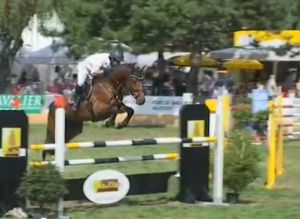 Alvatore RV (Salvatore x Baloubet du rouet) jumping international CSI** 1.40m with amazon Cornelia Notz.