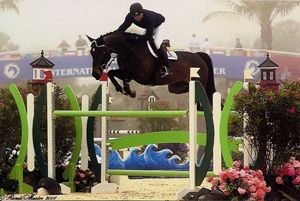Toscane RV (Cavalier x Emilion) Grand Prix jumping horse with rider Darragh Kerins, owner Double H Farms.